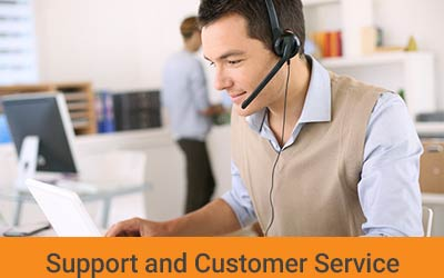 support and after sales service